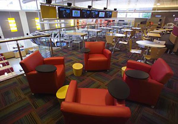 New McDonald's interior