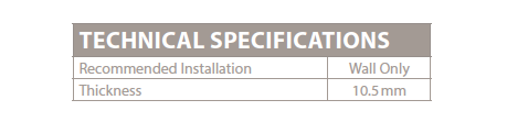 Glass and Stone collection specification