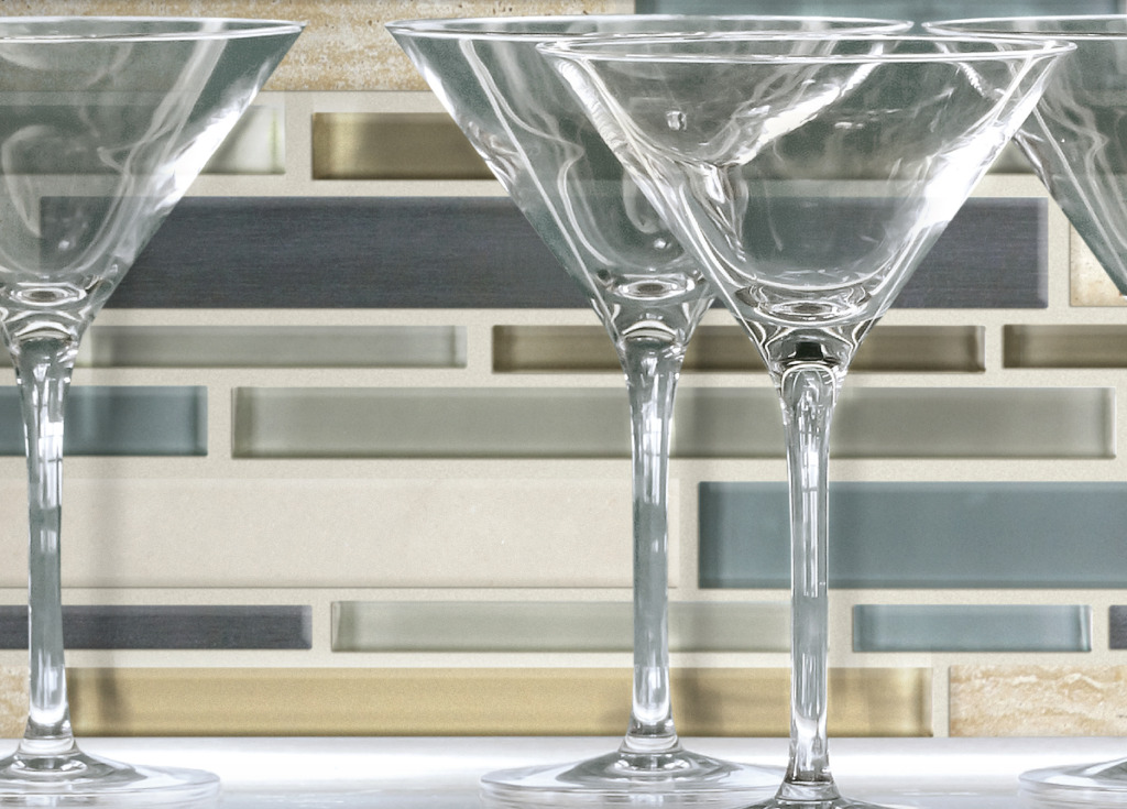 Stainless-glass-stone mosaic wall tile by GIO