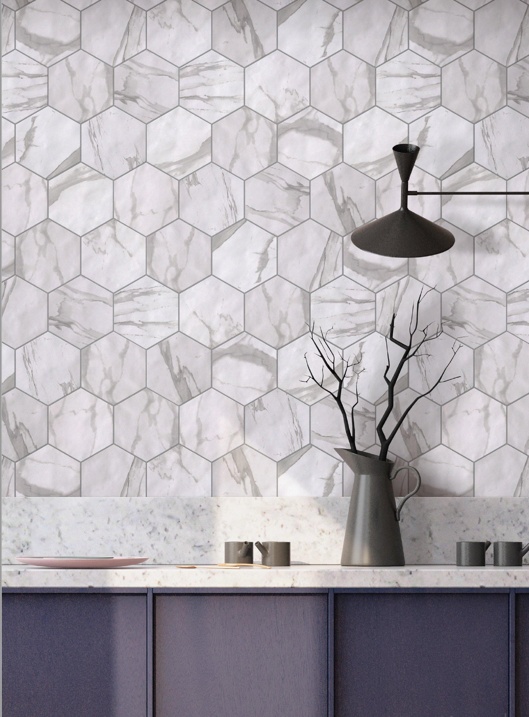 GIO Marmi_Trend, Statuary Hex Field Tile