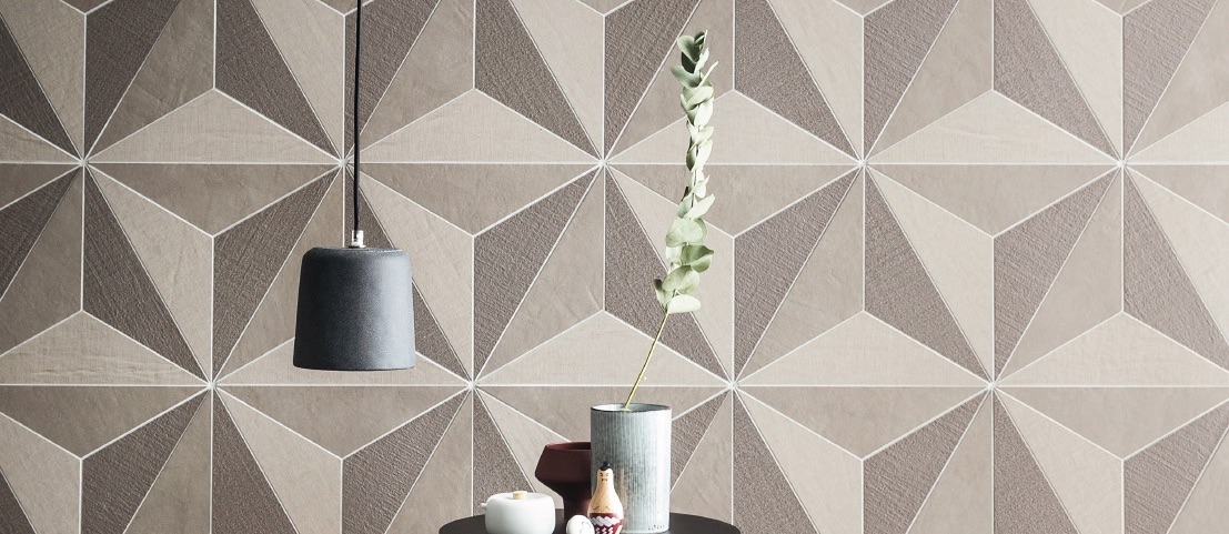 Canvas Floor and Wall Tile polygon light mix mosaic