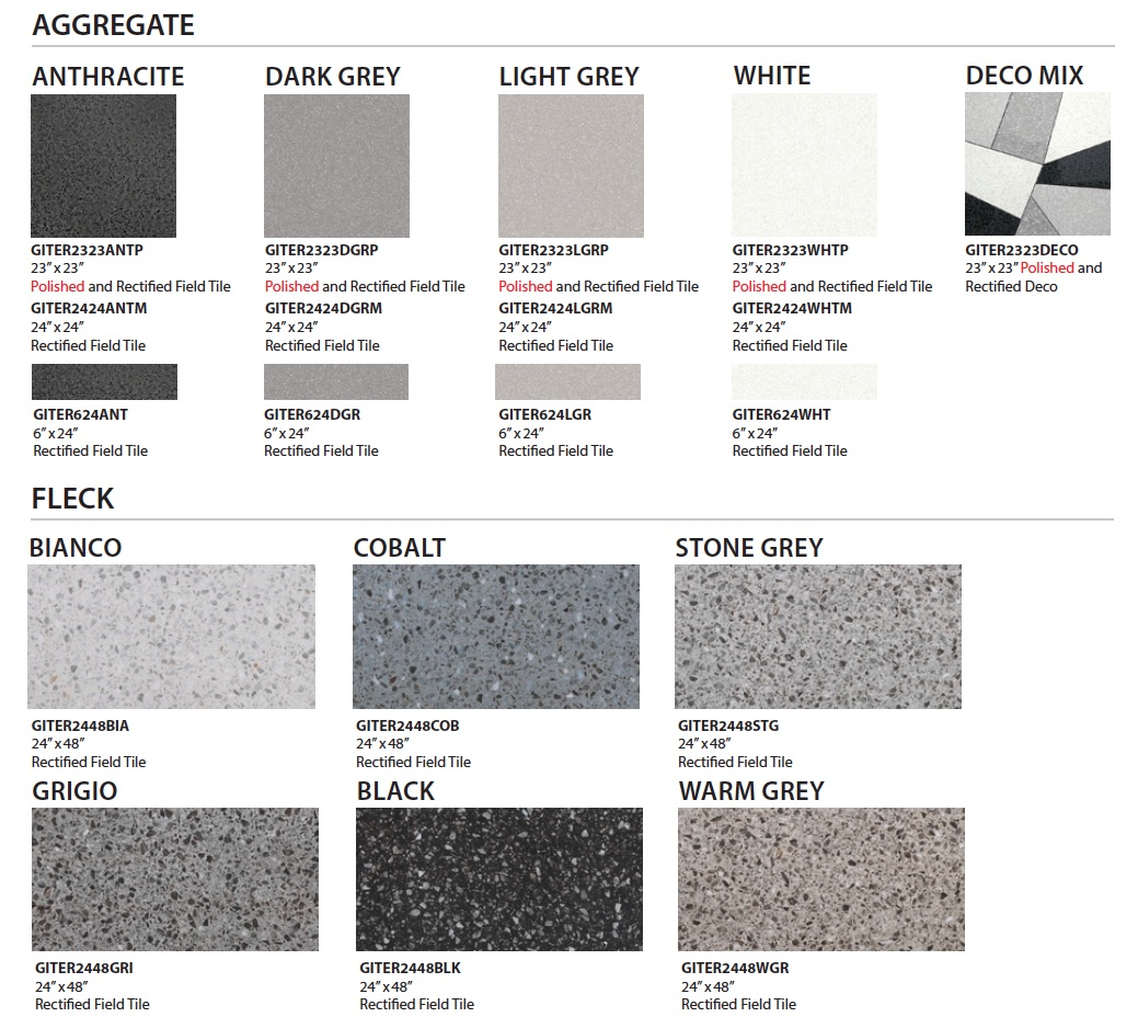 Terrazzo porcelain tile by GIO colors