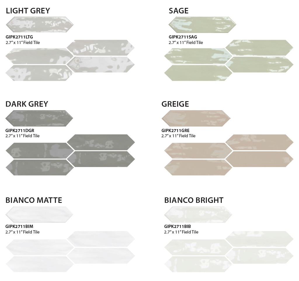 GIO Picket wall tile colors
