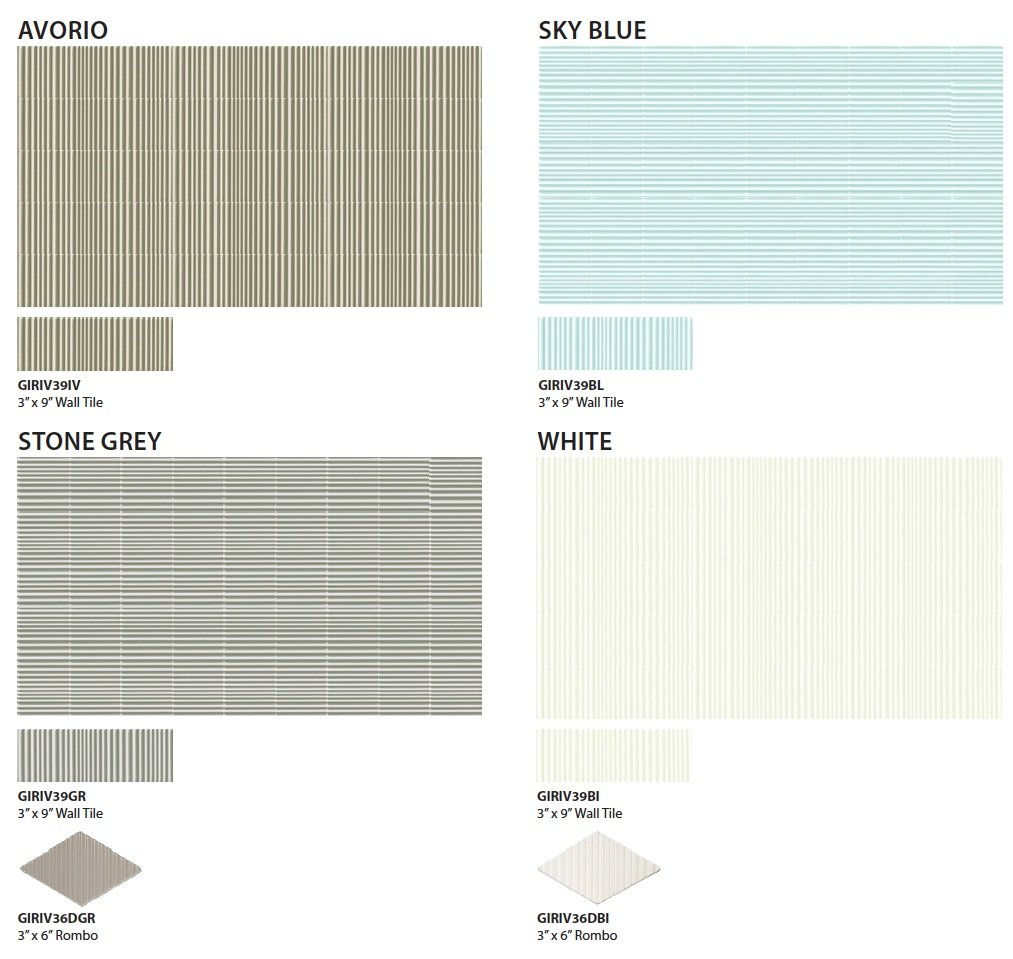 RIVAL by GIO Wall Tile-colors