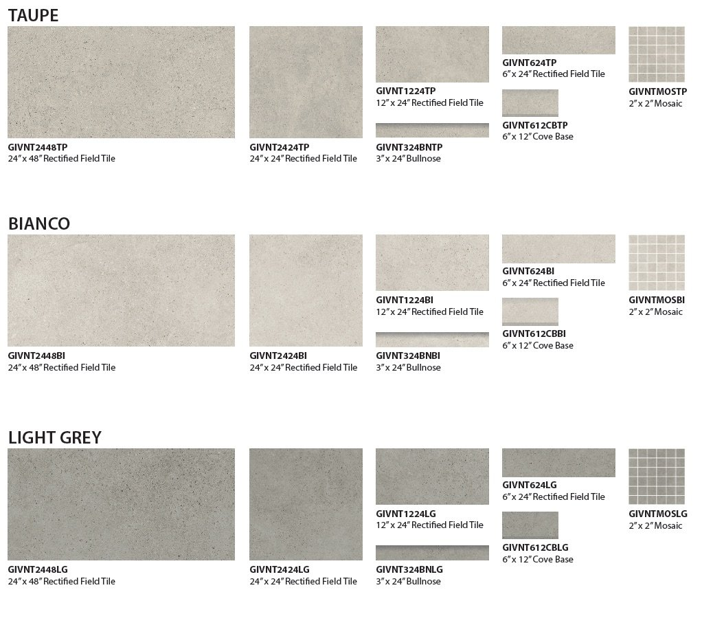 Veneto Floor and Wall Tile by GIO colors
