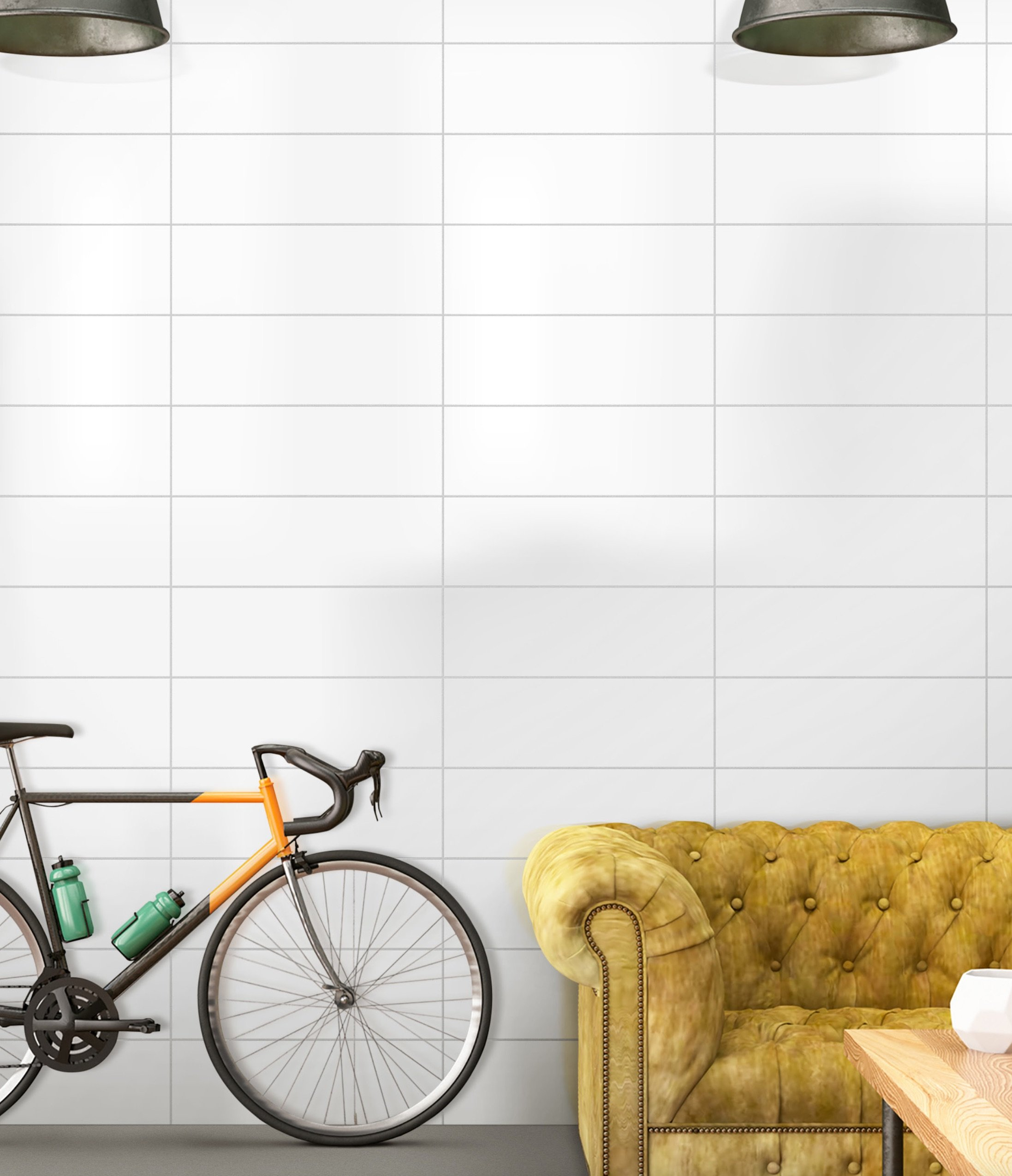 Subway by GIO Wall Tile in 8x24 Standard Bright White