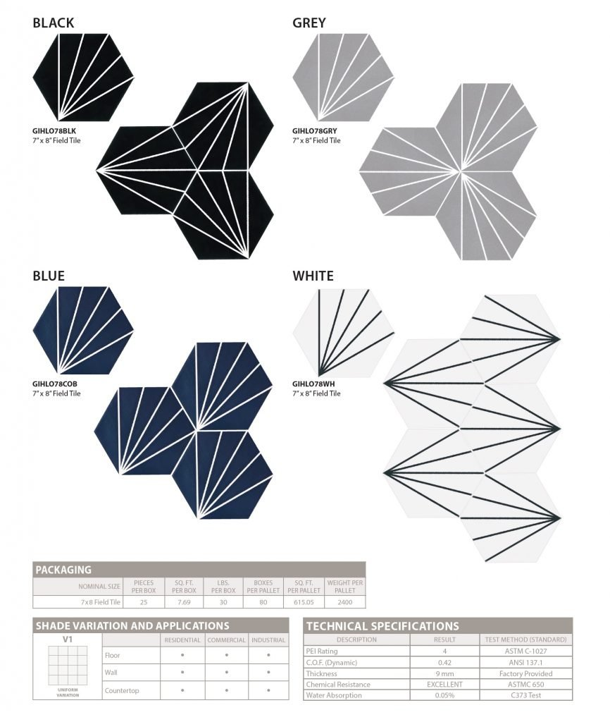 HEX_LEONIS floor and wall tile colors-specs