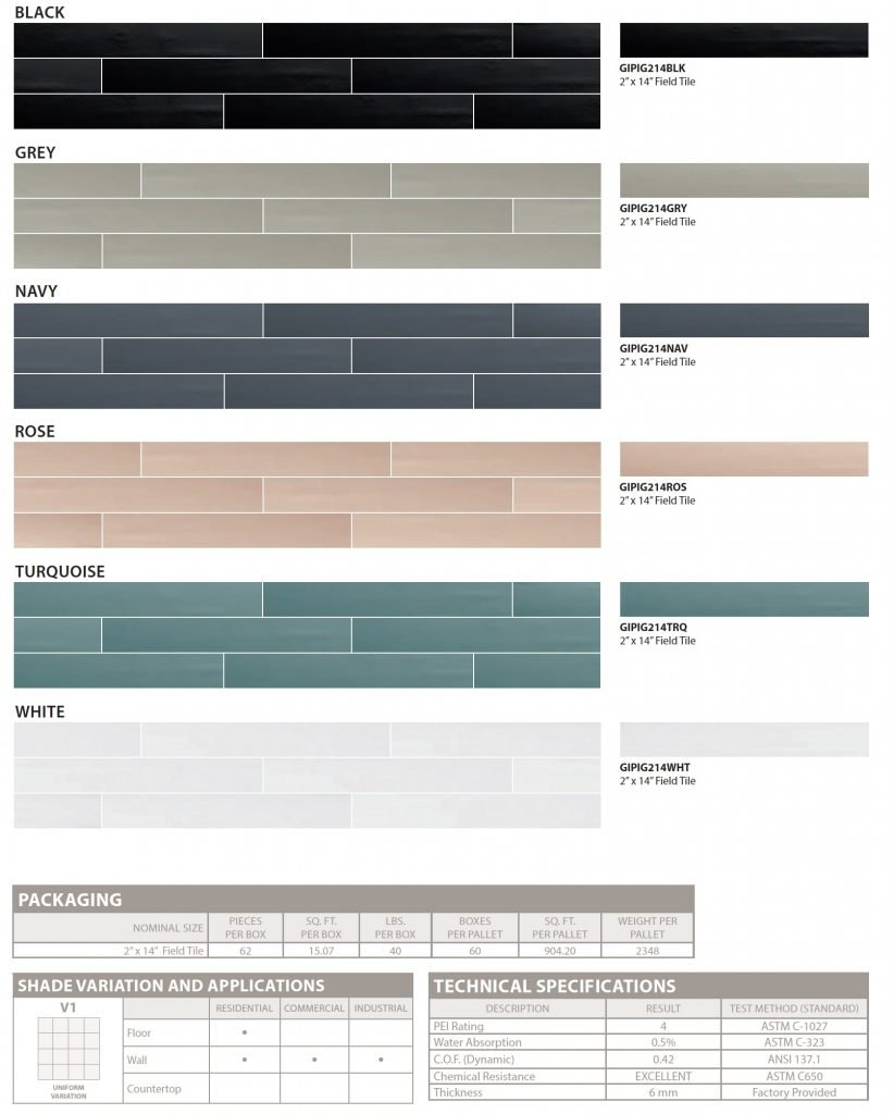 PIGMENT by GIO specs colors