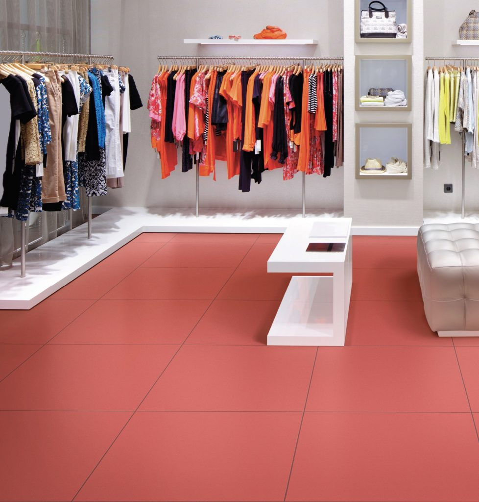 Colori floor tile, Red 24x24 Matte Rectified