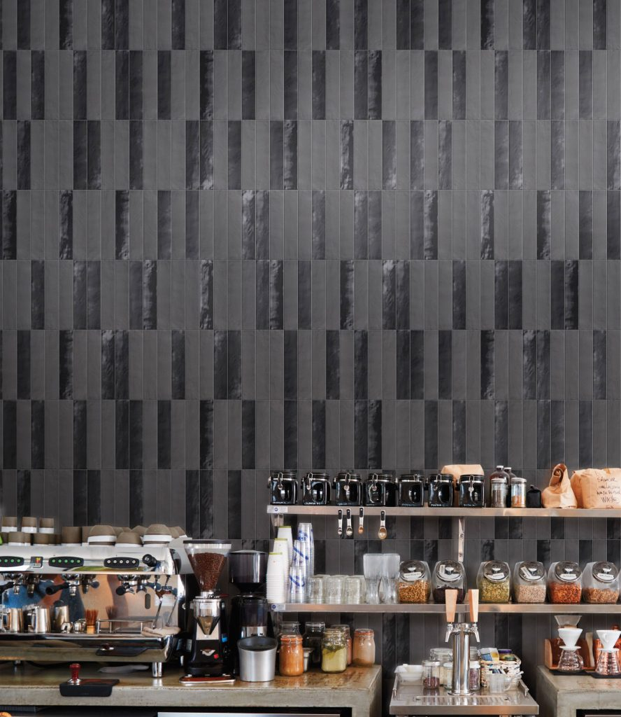 GIO-brick_mood,-Black-2x10-Glossy-and-Matte-Field-Tile room scene