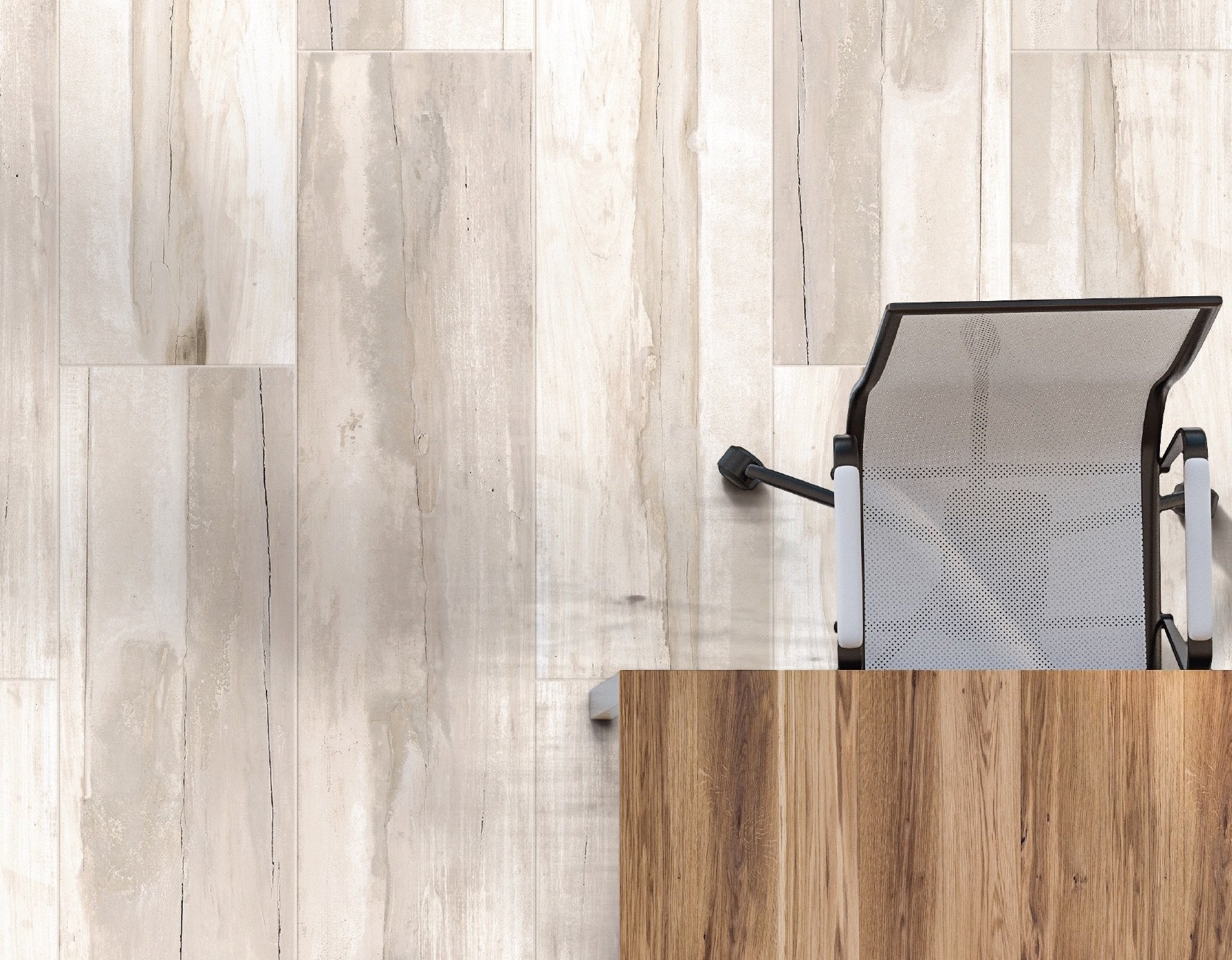 Provenza, Bianco 12x48 Rectified Field Tile