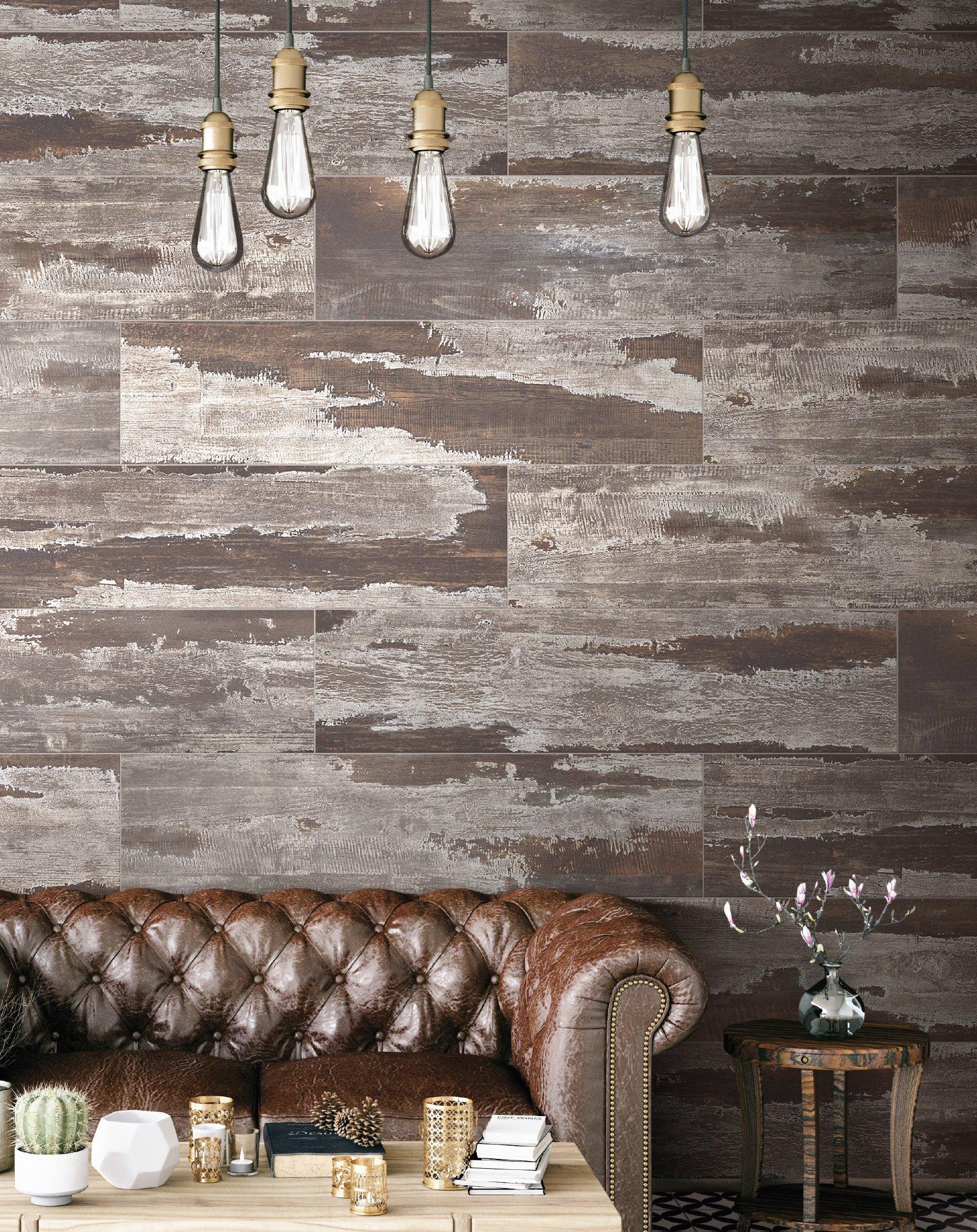 Char floor and wall tile room scene